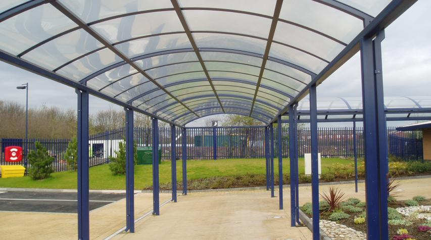 Glass Covered Walkways : Clifton walkway system covered glass walkways from