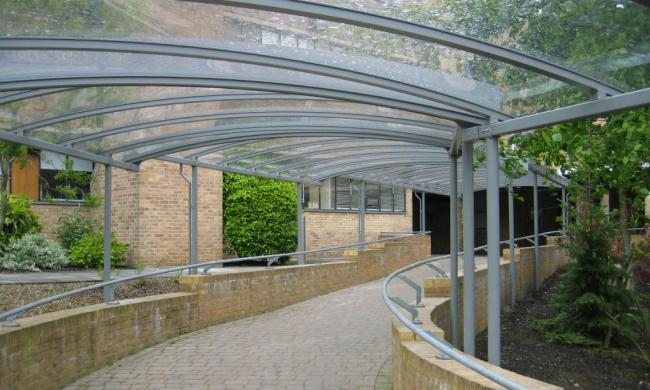 Glass Covered Walkways : Projects glass covered walkway from macemain